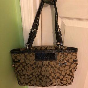 Brown medium coach handbag